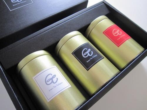 かぶせ茶と紅茶の茶缶ギフトセット